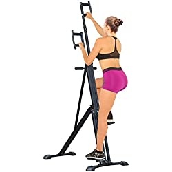 HOMCOM Vertical Climbing Machine Cardio Stepper Home Gym Exercise Workout Fat Burning Training Equipment Black