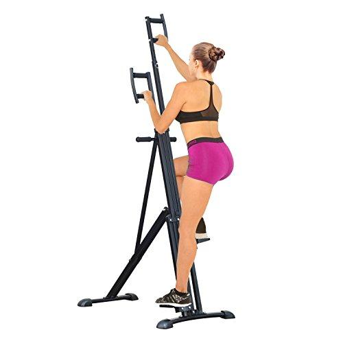 HOMCOM Vertical Climbing Machine Cardio Stepper Home Gym Exercise Workout Fat Burning Training Equipment Black