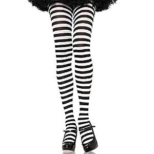 Leg Avenue- Mujer, Color blanco y negro, Talla Plus (EUR 42-46) (7100Q07007)