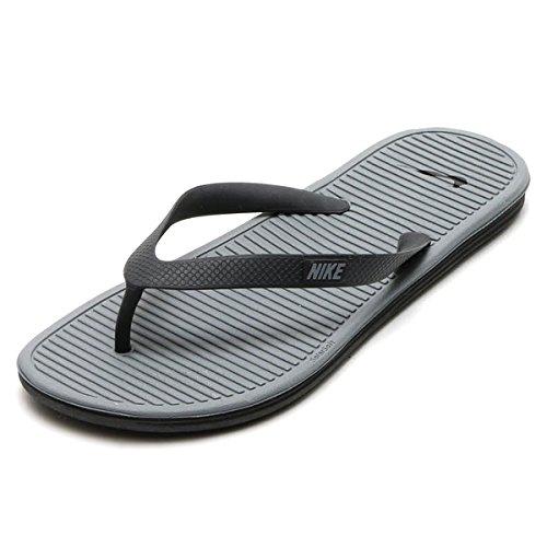 Nike Herren Solarsoft Thong 2 Turnschuhe, Grau, 46 EU Schwarz / Grau / Grau (Schwarz / Grau-Cool Grey)