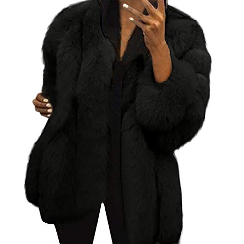 Bazhahei giacca donna,giacca donna pelliccia ecologica inverno moda caldo manica lunga cappotto donna taglie forti-100% alta qualità