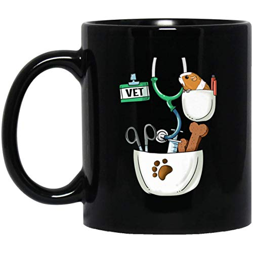 Veterinarian Halloween Costume Vet Tech Kids And Adult 11 oz. Black Mug