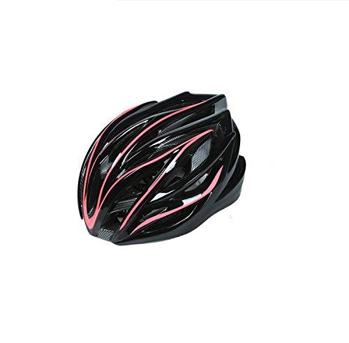 Arbre Fahrradhelm, einteiliger Helm, verstellbar, poröser Mountainbike-Helm (Rot + Schwarz)