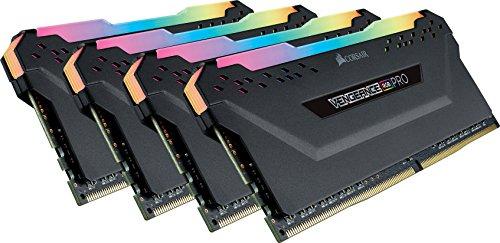 Corsair Vengeance RGB Pro - Kit de Memoria Entusiasta de 32 GB (4 x 8 GB, DDR4, 3200 MHz, C16, XMP 2.0) Negro