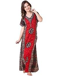 Masha Women's Cotton-Nighty Red