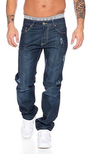 Rock Creek Designer Jeans Herren Hose Destroyed Look Straight Cut W29-W44 LL-307