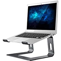 "NULAXY Laptop Stand,Aluminum Removable Laptop Holder, Ventilated Notebook Stand Compatible for MacBook Pro/Air, 10-15.6"" Notebook and Samsung Tablet,HUAWEI MateBook (Grey)"