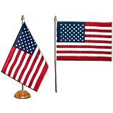 Tischst/änder wahlweise mit oder ohne 42 cm Massivholz Sachsen Landesflagge Tischflagge 15x25 cm in Profiqualit/ät