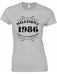 T-Shirt Femme Anniversaire 30 Ans Millésime 1986