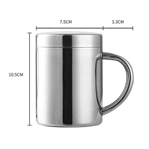 Campling Kaffeetasse Edelstahl Tasse Edelstahl Kaffeetasse Camping Tasse Tee Becher Tasse mit Deckel