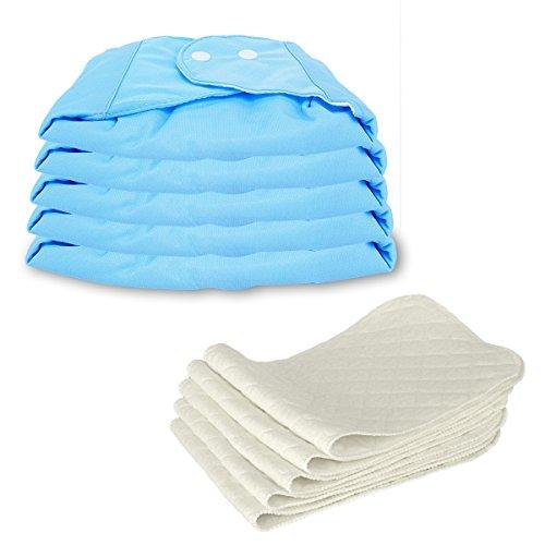 5 Stück Wiederverwendbare Waschbare Verstellbar Babywindeln Baby Windelhose Baby-Tuch-Windel Weicher Stoff, Größe Verstellbar