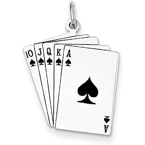 Carte da gioco-Charm in argento Sterling