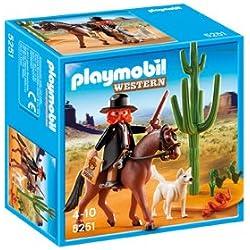 Playmobil - Sheriff con caballo, figuras de juguete (5251)