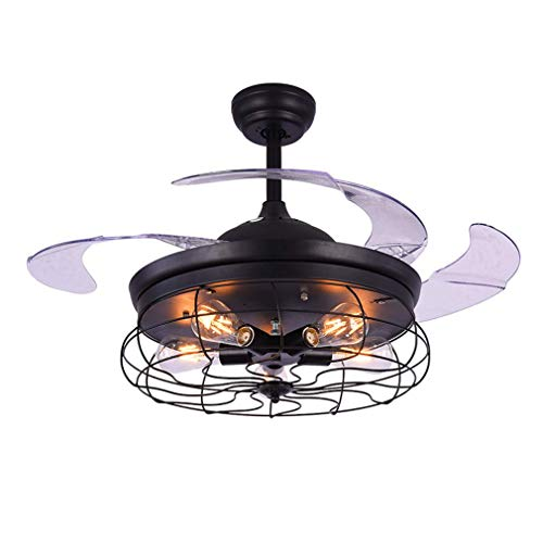 Luz de ventilador de techo invisible de 42 pulgadas con control remoto/sala...