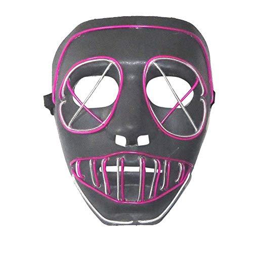 Halloween ätherische Maske, LED-Maske Spukhaus Halloween Kostüm Party Maskerade Karneval lustige leuchtende Maske