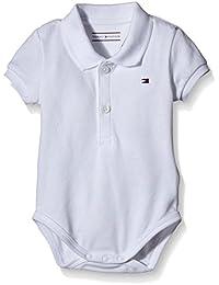 Tommy Hilfiger Basic Polo Body S/s, Bebé niños, Blanco (Classic White), 74