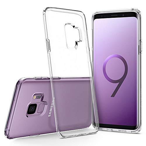 Spigen 592CS22826 Liquid Crystal Samsung Galaxy S9 Hülle Transparent TPU Silikon Durchsichtige Case Crystal clear