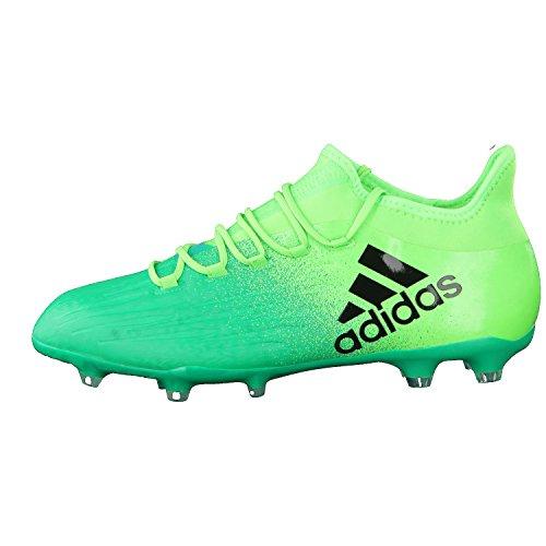 Adidas x 16.2FG–Chaussures de football pour homme vert/noir/vert citron