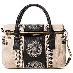 Desigual Bag Lady Loverty Women, Sacs menotte femme, Blanc (Crudo Beige), 9x24x29.50 cm (B x H T)