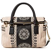 Desigual Bolso Mujer Lady Loverty Crudo