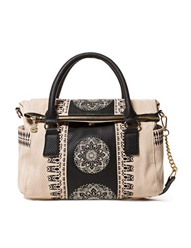 Desigual Damen Bag Lady Loverty Women Henkeltasche, Weiß (Crudo Beige), 9x24x29.50 cm