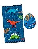 Moses 40214 Zauberhandtuch Dino-Ei   Cooles Handtuch für den Kindergeburtstag   100% Baumwolle, Mehrfarbig