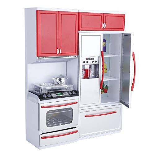 Hakeeta Modern Plastic Plastic Play Kitchen, Mini Kitchen Pretend Role Play Toy,...