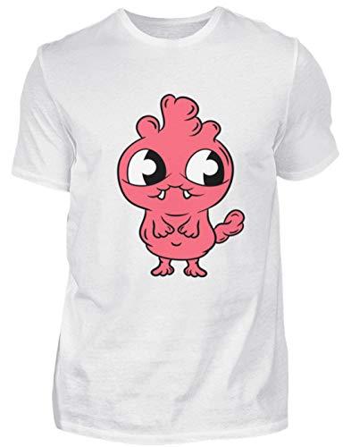 s Monster für Babys und Kinder süßes Ungeheuer Babygewand Strampler Taufe Geschenkidee - Herren Premiumshirt -S-Weiß ()