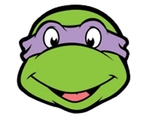 Star Cutouts Bedruckte Gesichtsmaske von Donatello ()