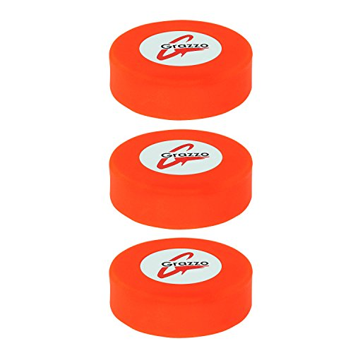 grazzo Eishockey Pucks, Standard 7,6cm Größe, ausgezeichnete Qualität glatte Oberfläche, 3Stück