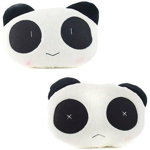 EarthSafe® Seggiolino Auto cuscino del collo, Cute Cartoon Auto Poggiatesta Supporto ammortizzatore Protector (Panda)