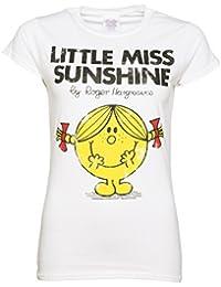 Little Miss Sunshine Miss Sonnenschein Damen TShirt Wei
