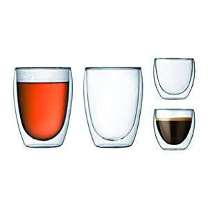 Bodum Double Wall Glasses - Transparent, Pack of 4