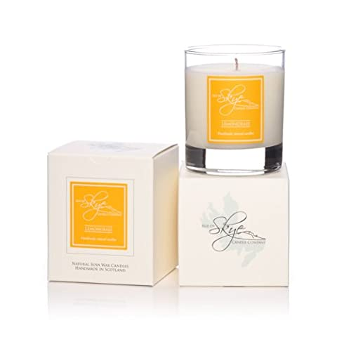 Isle Of Skye Candle In Glass. LEMONGRASS. 30hr. Natural Soy Wax. Hand Made. Gift Boxed