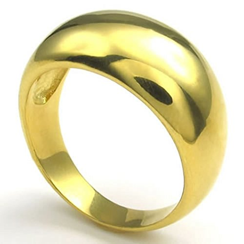 Bishiling Modeschmuck Männer Edelstahlring Hochglanzpoliert Breite 12MM Rund Gold Ring für Herren Ringgröße 65 (20.7) (Der 12 Jährige Prinzessin Kostüme)