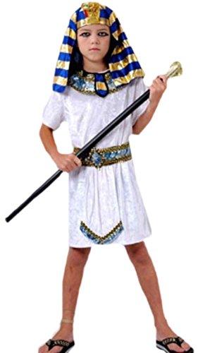 Halloweenia - Kinder Pharao Kostüm, 146, Weiß