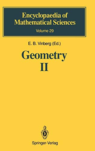 Geometry II: Spaces of Constant Curvature (Encyclopaedia of Mathematical Sciences (29), Band 29)