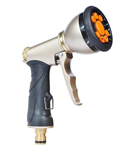 Alta pressione tubo da giardino ugello spruzzatore rondella con pistola regolabile in 9Pattern Heavy Duty Pistol Grip Trigger per auto Pulire Showing Cane per innaffiare piante prato Patio