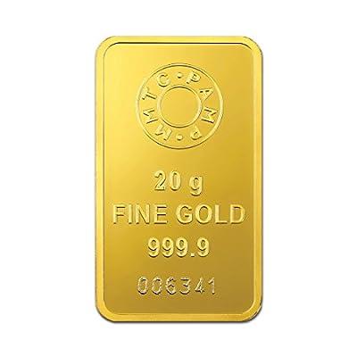 MMTC-PAMP India Pvt. Ltd. Lotus series 24k (999.9) purity 20 gm Gold Bar