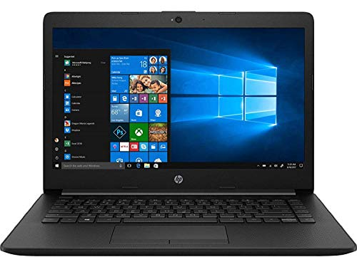 HP 14 cy0004AU 14-inch Laptop (A6-9225 Dual-Core/4GB/256GB SSD/Windows 10 Home/AMD Radeon R4 Graphics), Jet Black