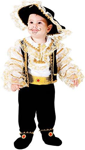 Costume di carnevale da piccolo corsaro vestito per neonato bambino 0-3 anni travestimento veneziano halloween cosplay festa party 7706 taglia 0