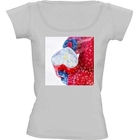 Camiseta Cuello Redondo para Mujer - Amor Taza - Invierno by UtArt