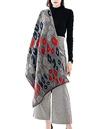 a01e3e4083a9 WUDUBE Imprimé Écharpe Femme, Chaud Léopard Camouflage Les motifs Châle  Doux Cou L automne