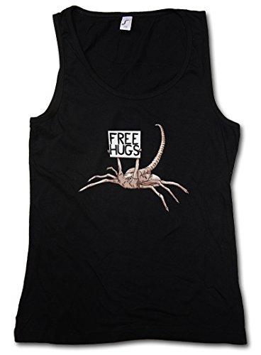 FREE HUGS HUGGER DONNA TOP - Facehugger Prometheus Ripley Yutani Saga Weyland Fun Alien DONNA TOP Taglie S - XL