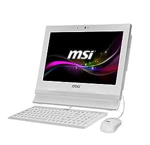 """MSI AP1622-035FR Ordinateur de bureau Tout-en-Un 15"""" (38,10 cm) Intel Celeron 1,1 GHz 320 Go 4096 Mo Intel HD Windows 7 Home Premium Blanc"""