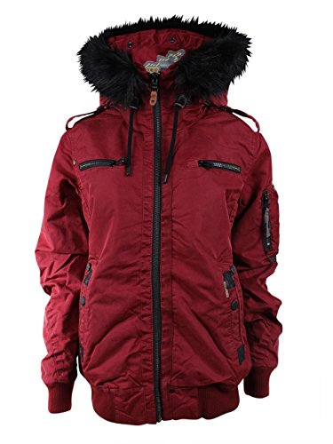 khujo - Blouson - Parka - Uni - Col Mao - Manches Longues - Homme Red Wine (629)