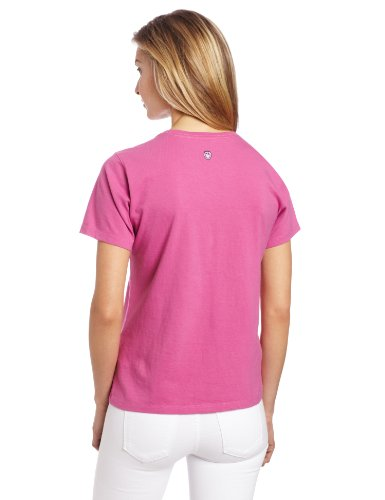 Life is Good Damen-Love you Herz Crusher Tee Hot Fuchsia