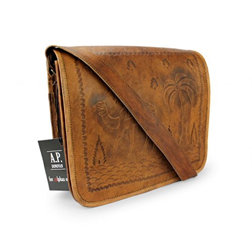 Leder-Accessoires - ideal fürs Büro, Freizeit, Urlaub - handgefertigt (Umhängetasche) (Handtaschen Inspiriert Vintage)