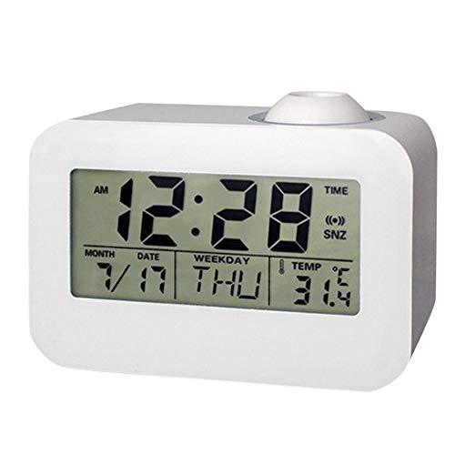 Monland Reloj Digital LCD Electronico Reloj Despertador Proyector ...