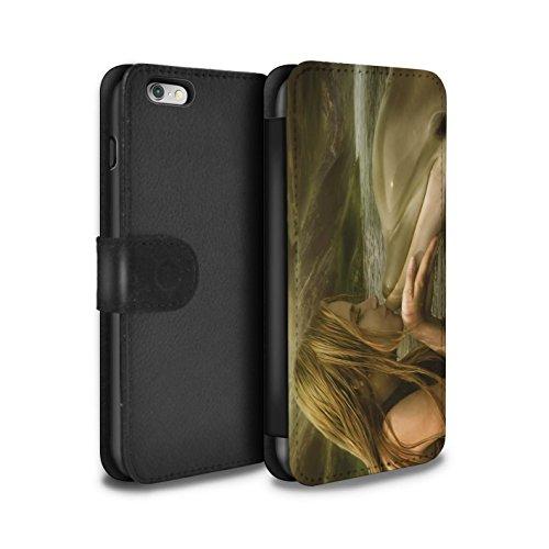 Officiel Elena Dudina Coque/Etui/Housse Cuir PU Case/Cover pour Apple iPhone 6+/Plus 5.5 / Mer Profonde/Hippocampe Design / Agua de Vida Collection Sonrisas/Dauphin